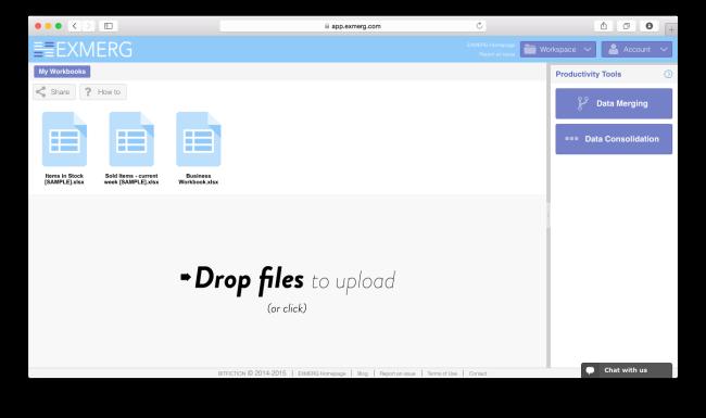 Drag&Drop Workbooks processing